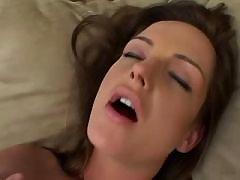 Adorable lesbian makes sweaty sex