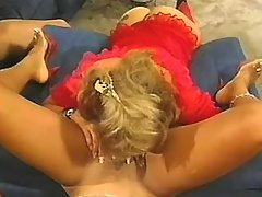 Appetizing lezzie with narrow pussy