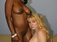 Black lesbian sista fuck white girl